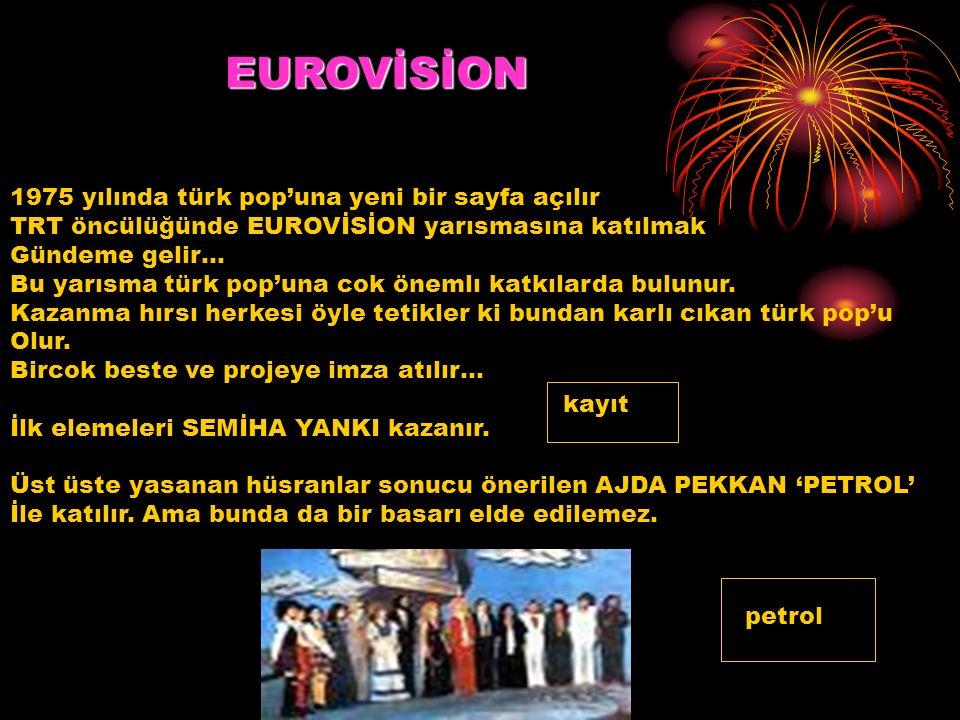 EUROVİSİON 1975 yılında türk pop'una yeni bir sayfa açılır