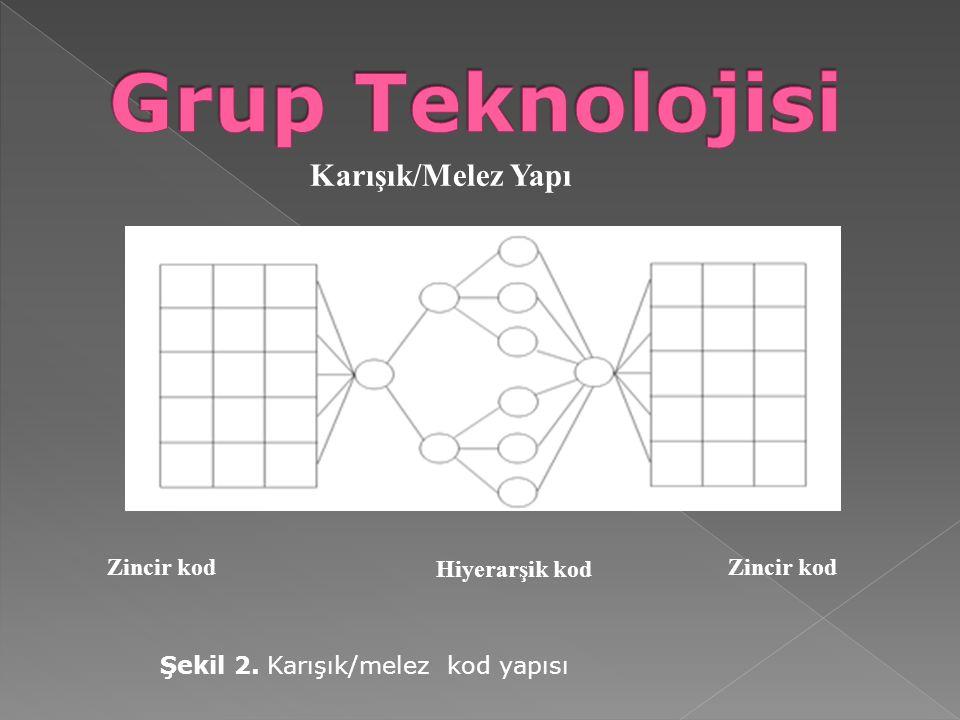 Grup Teknolojisi Karışık/Melez Yapı Zincir kod Hiyerarşik kod