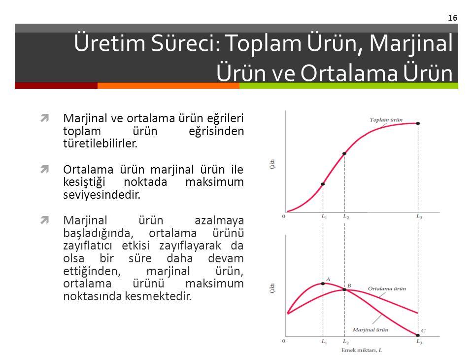 Üretim Süreci: Toplam Ürün, Marjinal Ürün ve Ortalama Ürün