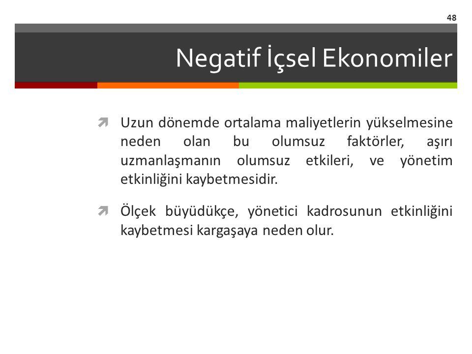 Negatif İçsel Ekonomiler