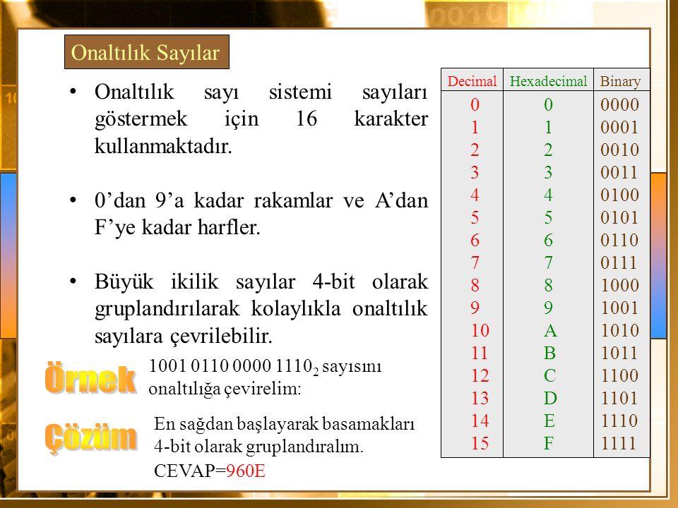Örnek Çözüm Onaltılık Sayılar