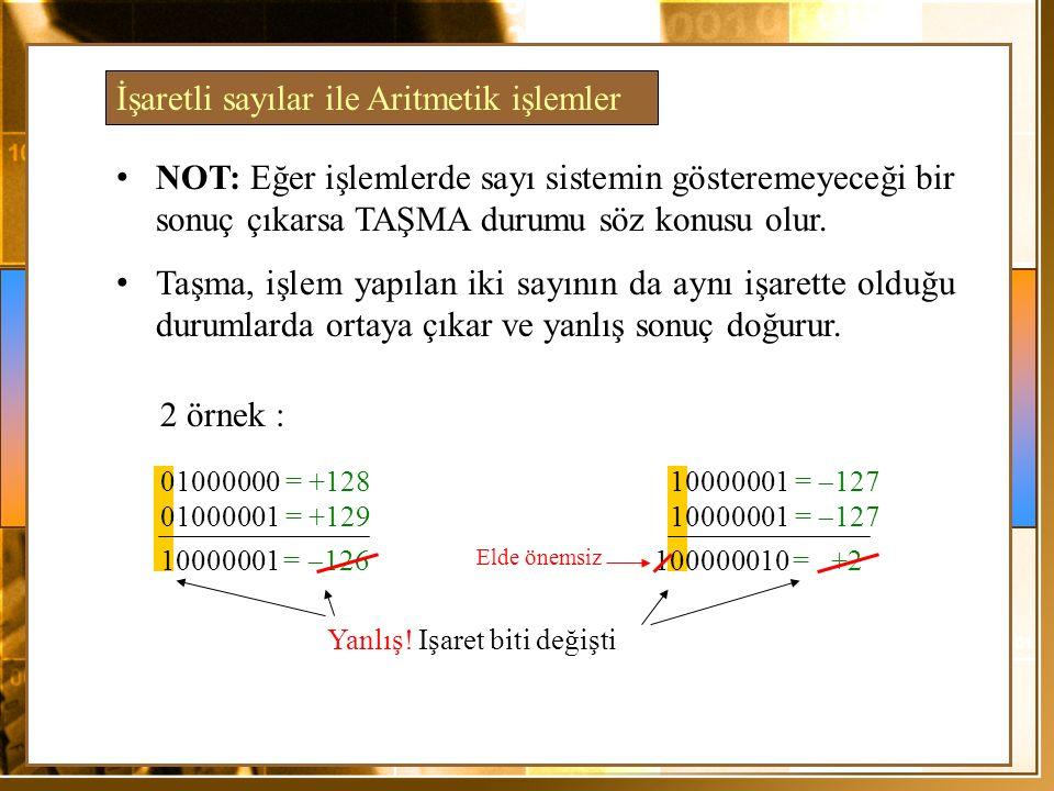 İşaretli sayılar ile Aritmetik işlemler