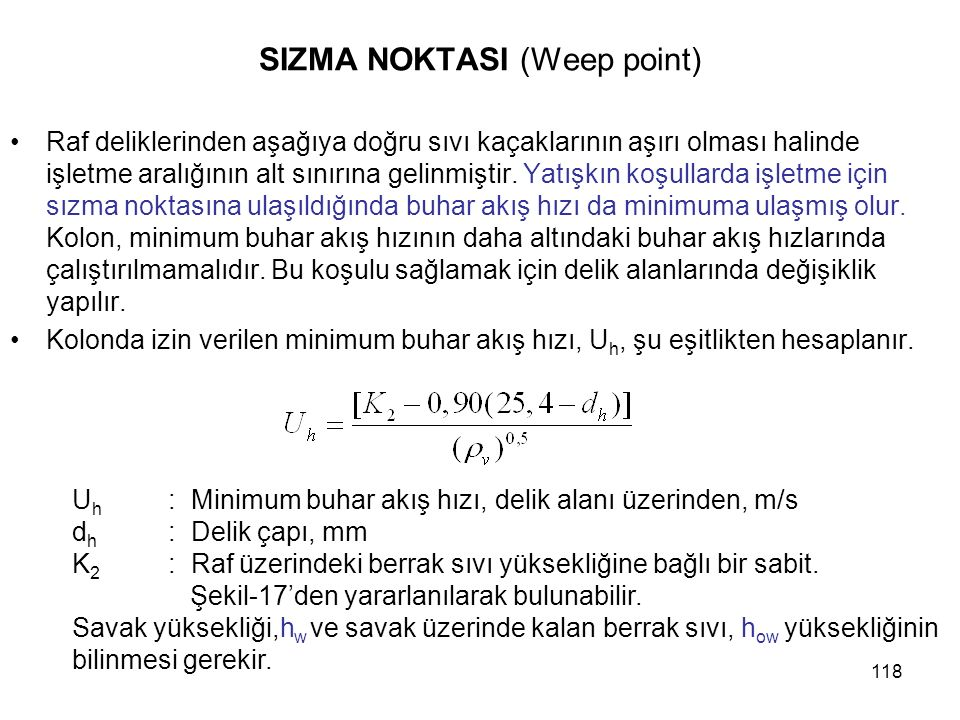 SIZMA NOKTASI (Weep point)