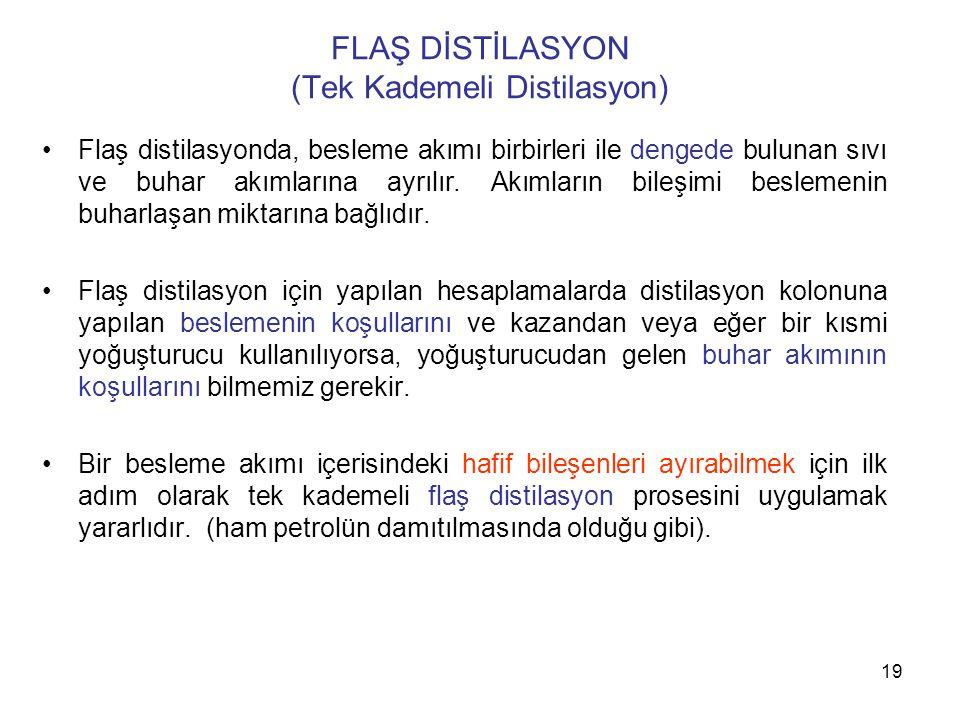 FLAŞ DİSTİLASYON (Tek Kademeli Distilasyon)
