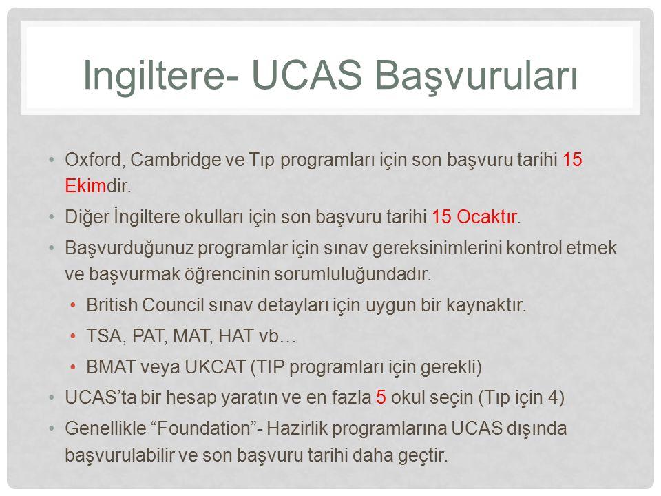Ingiltere- UCAS Başvuruları