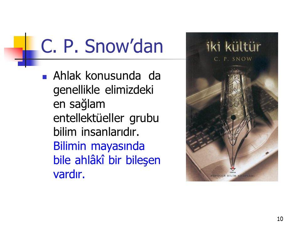 C. P. Snow'dan