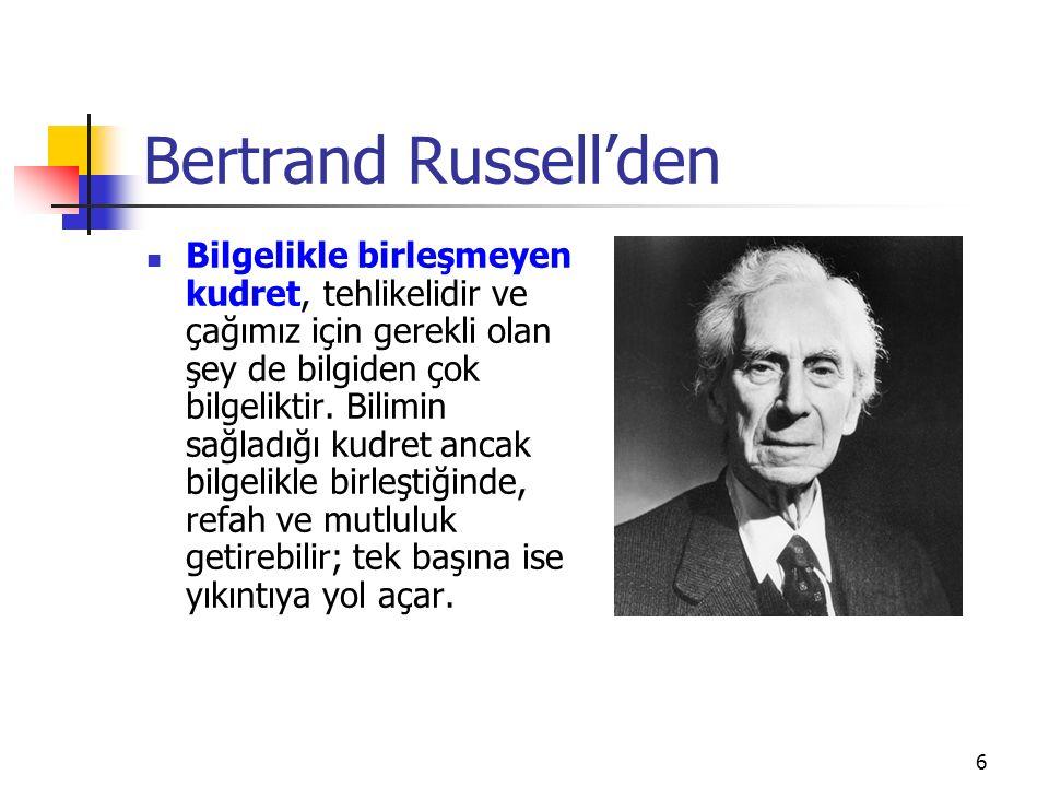 Bertrand Russell'den