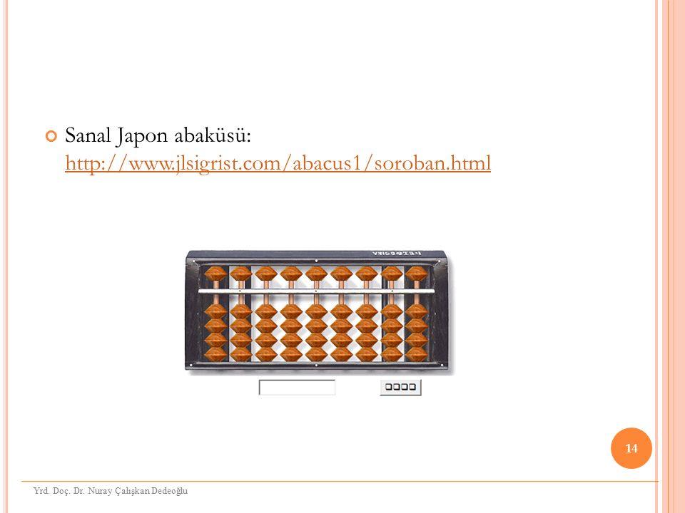 Sanal Japon abaküsü: http://www.jlsigrist.com/abacus1/soroban.html