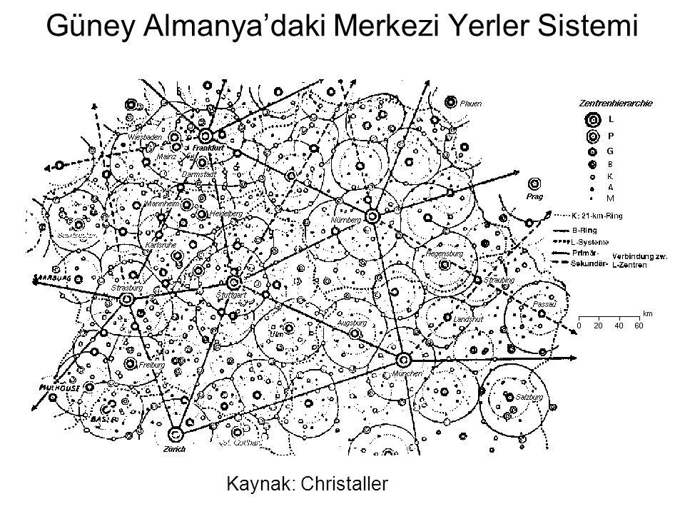 Güney Almanya'daki Merkezi Yerler Sistemi