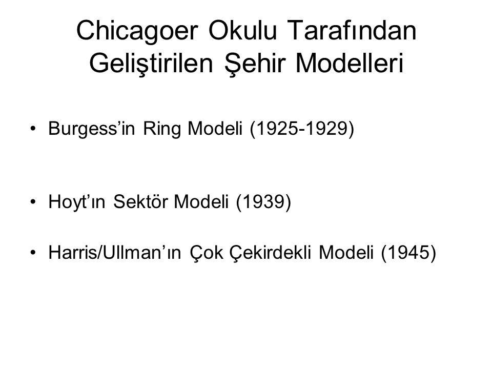 Chicagoer Okulu Tarafından Geliştirilen Şehir Modelleri