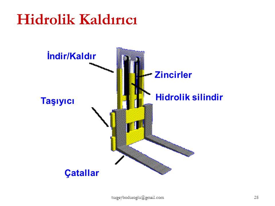 Hidrolik Kaldırıcı İndir/Kaldır Zincirler Hidrolik silindir Taşıyıcı