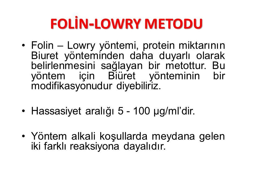 FOLİN-LOWRY METODU