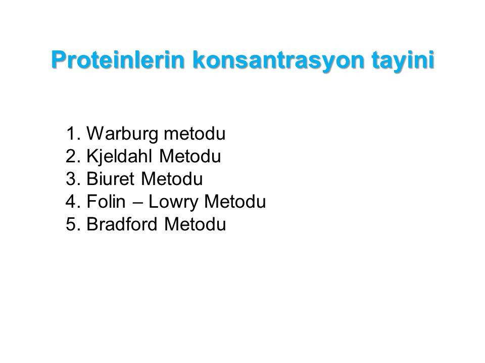 Proteinlerin konsantrasyon tayini