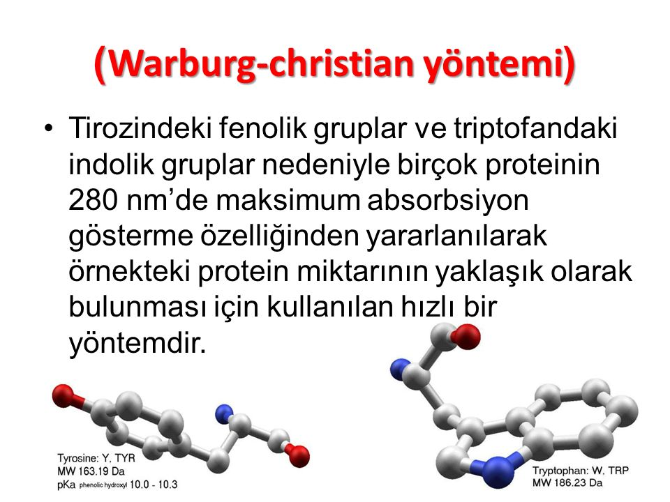 )Warburg-christian yöntemi(