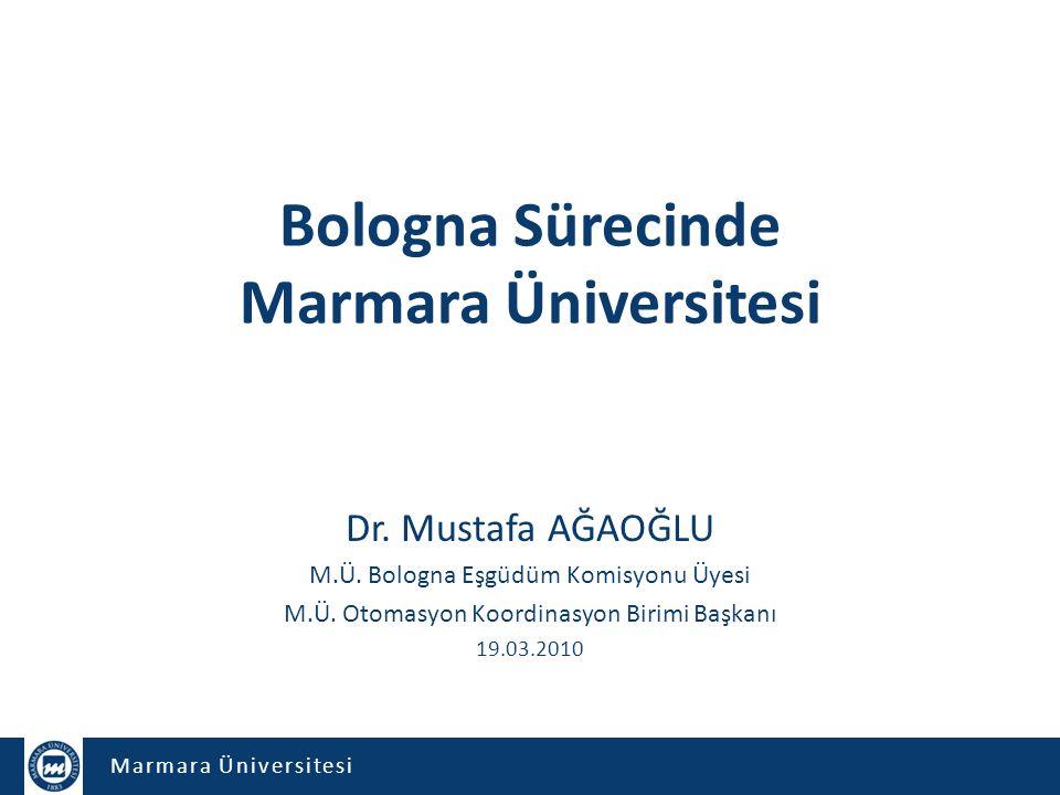 Bologna Sürecinde Marmara Üniversitesi