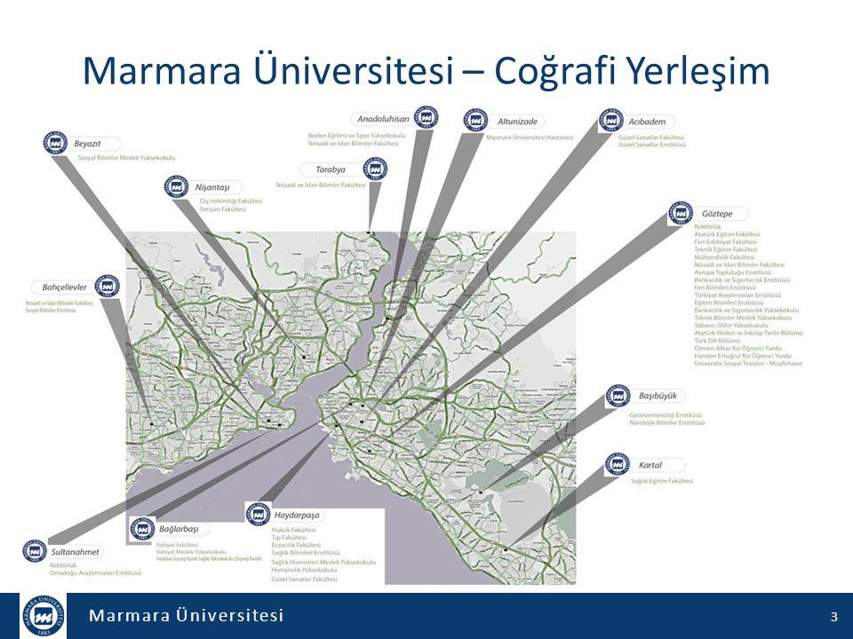 Marmara Üniversitesi – Coğrafi Yerleşim