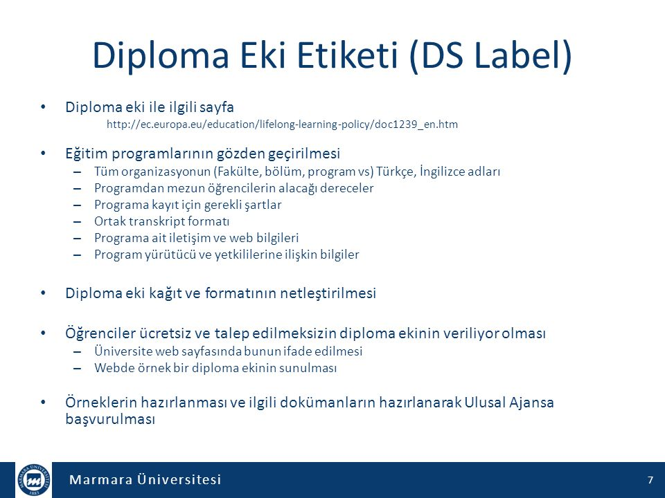 Diploma Eki Etiketi (DS Label)