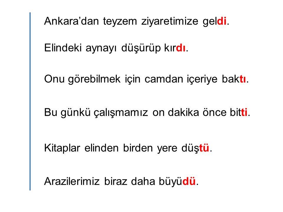 Ankara'dan teyzem ziyaretimize geldi.