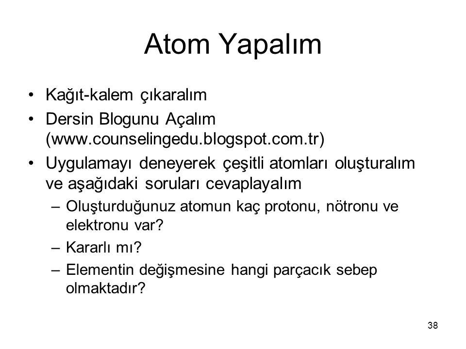 Atom Yapalım Kağıt-kalem çıkaralım