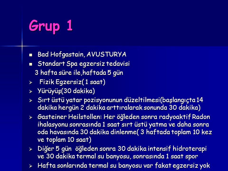 Grup 1 Bad Hofgastain, AVUSTURYA Standart Spa egzersiz tedavisi