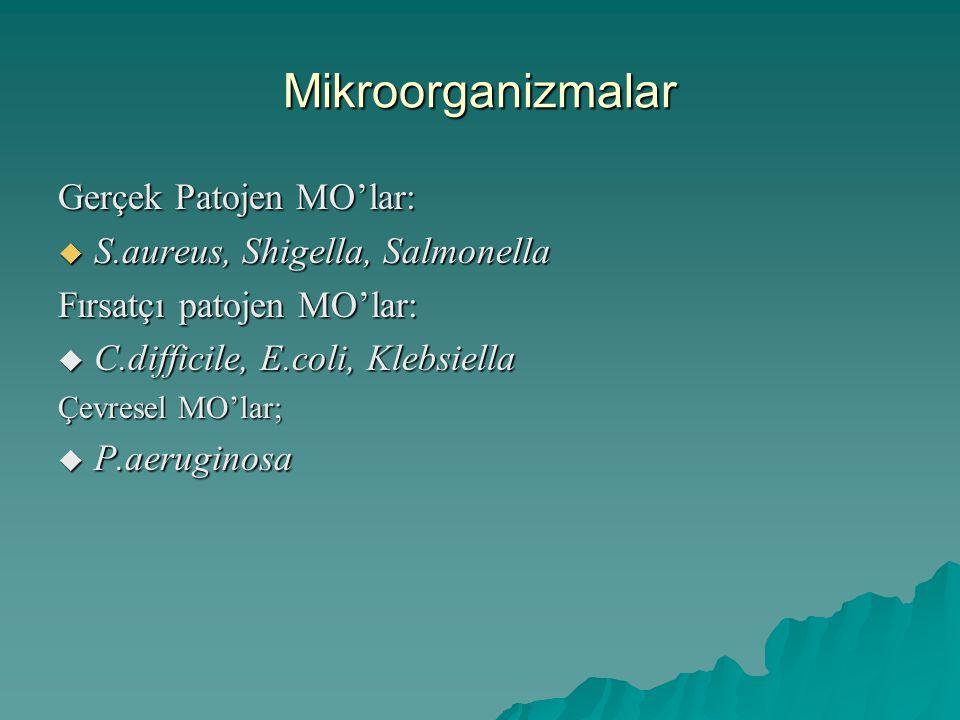 Mikroorganizmalar Gerçek Patojen MO'lar: