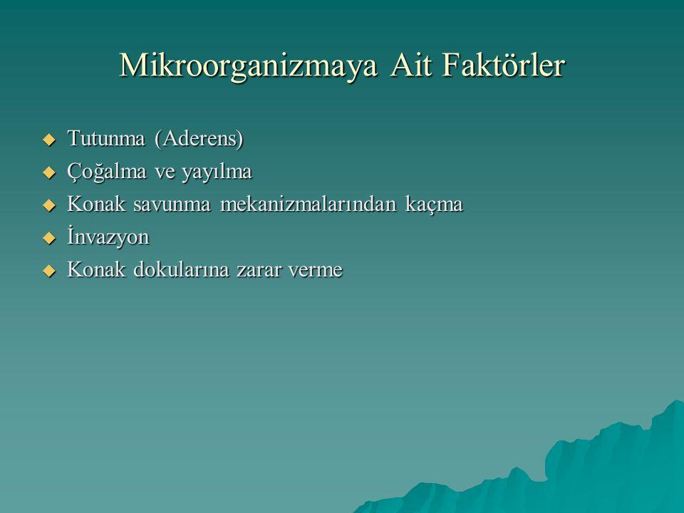Mikroorganizmaya Ait Faktörler
