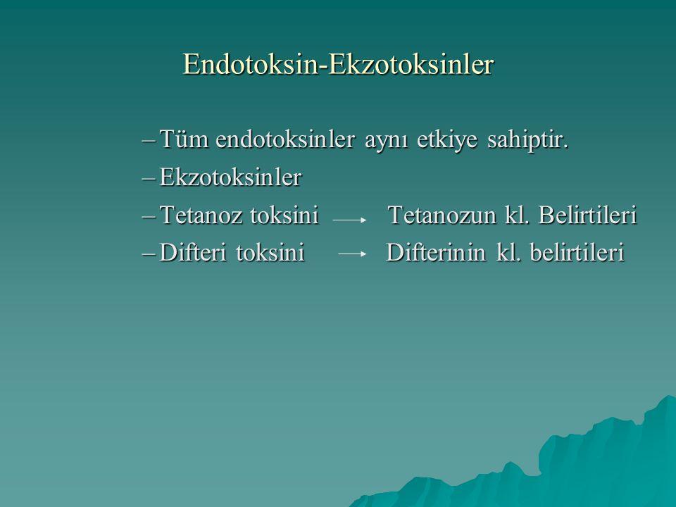 Endotoksin-Ekzotoksinler