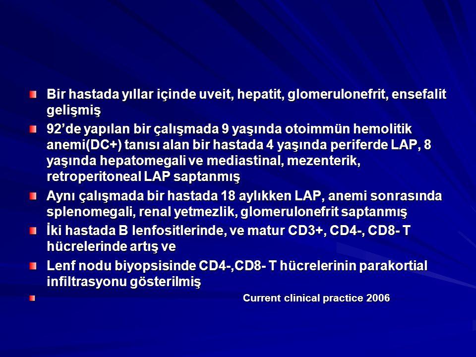 Bir hastada yıllar içinde uveit, hepatit, glomerulonefrit, ensefalit gelişmiş