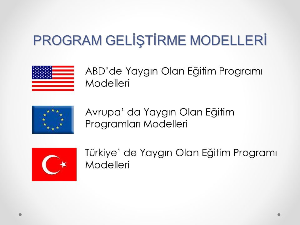 PROGRAM GELİŞTİRME MODELLERİ