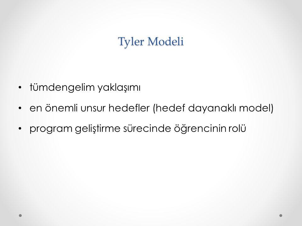 Tyler Modeli tümdengelim yaklaşımı