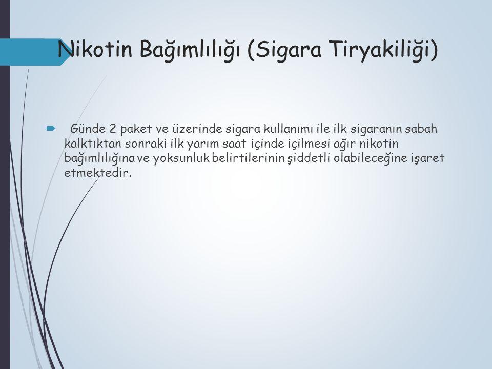 Nikotin Bağımlılığı (Sigara Tiryakiliği)