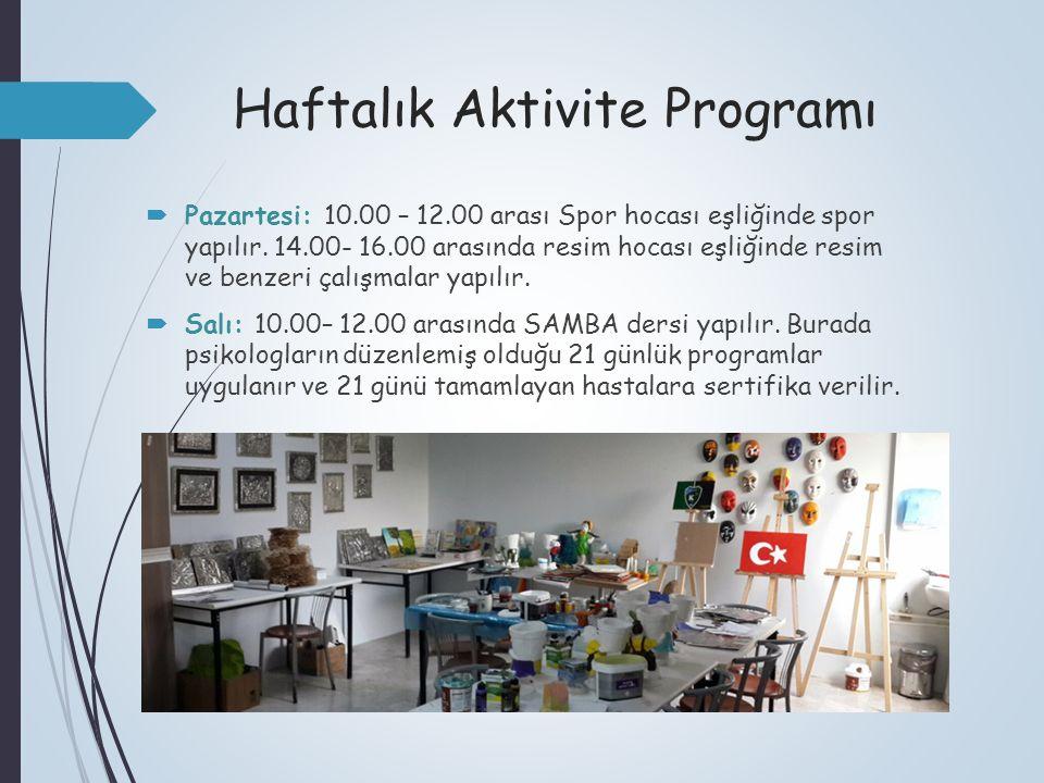 Haftalık Aktivite Programı