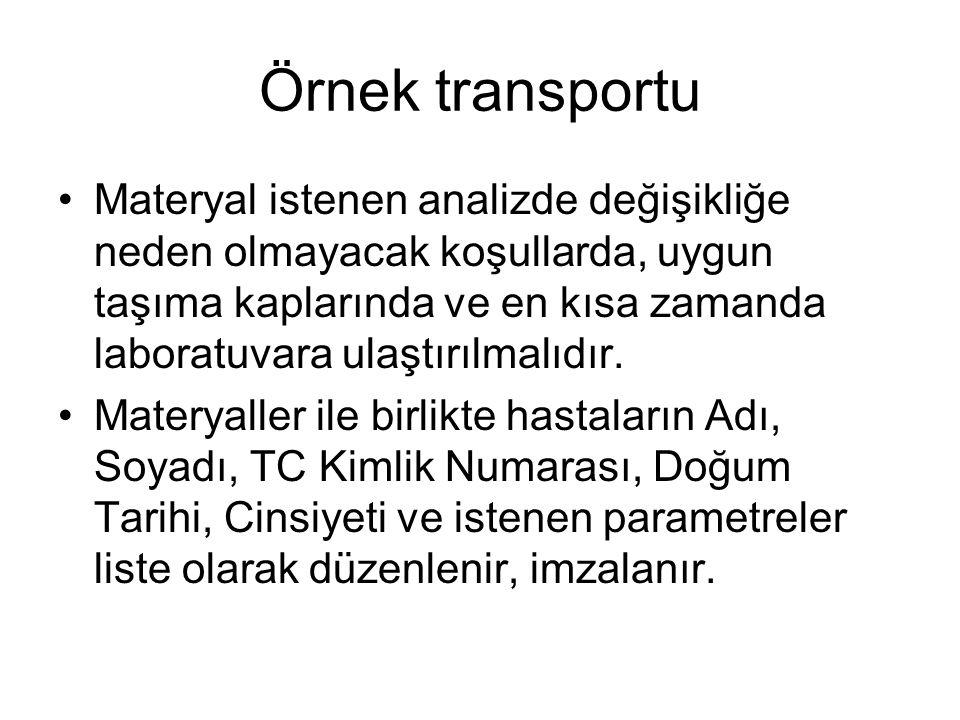 Örnek transportu
