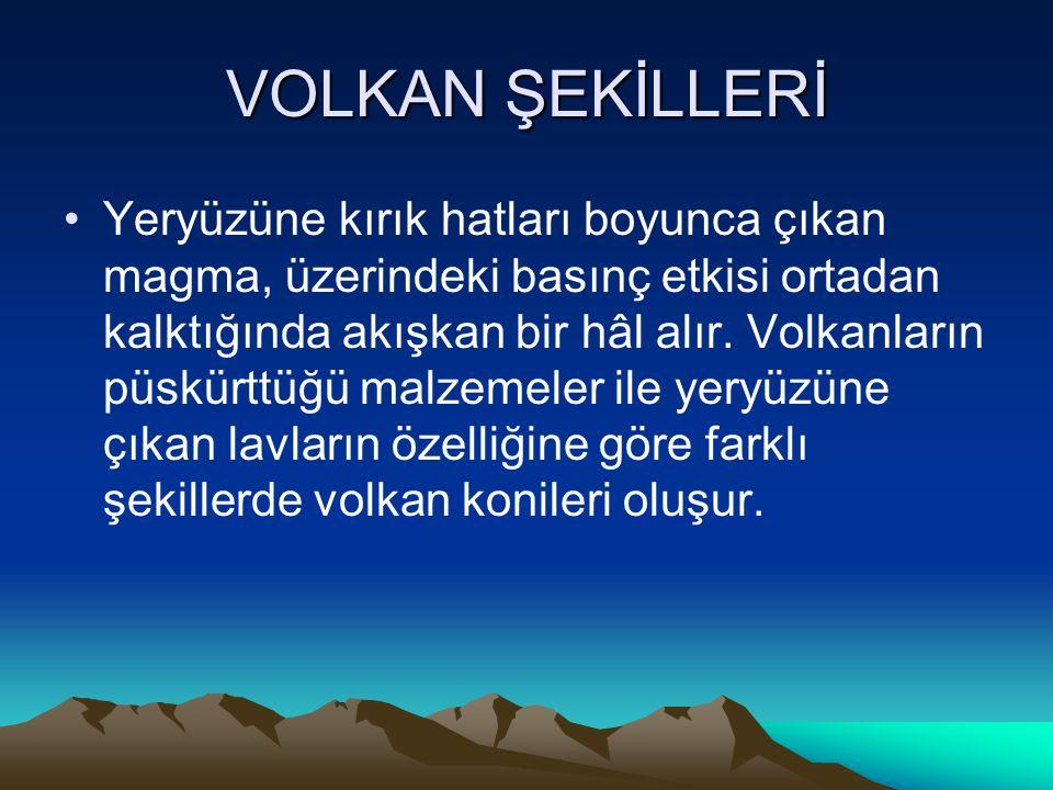 VOLKAN ŞEKİLLERİ