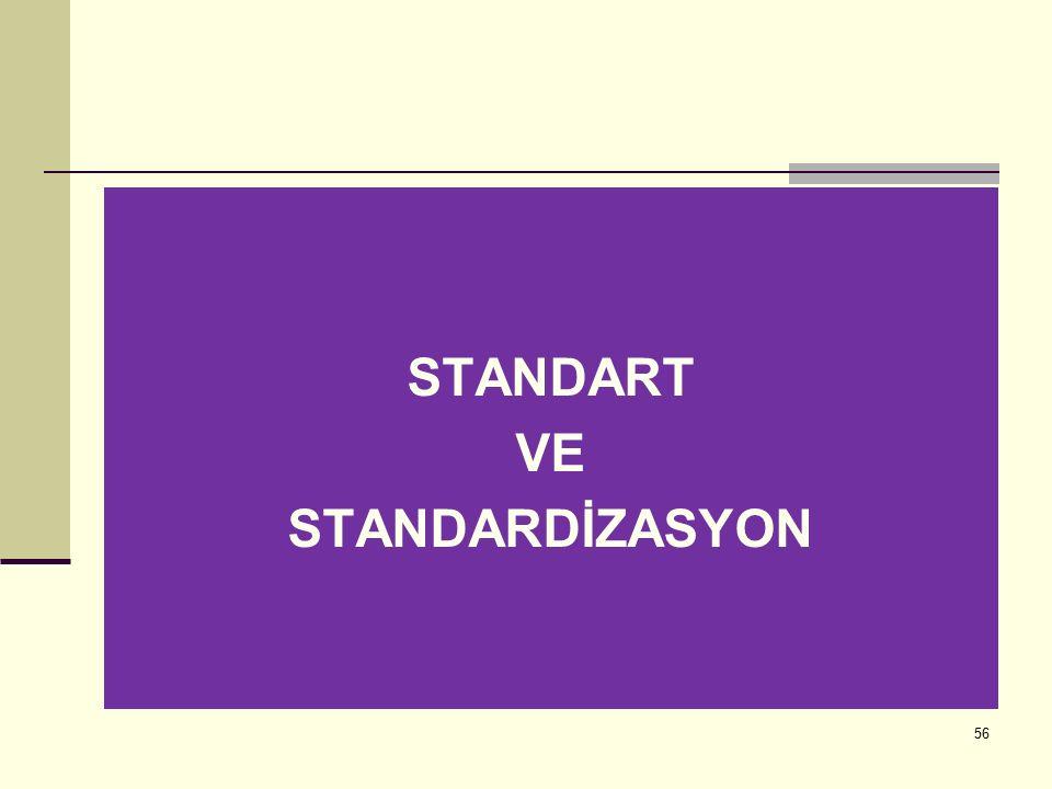 STANDART VE STANDARDİZASYON