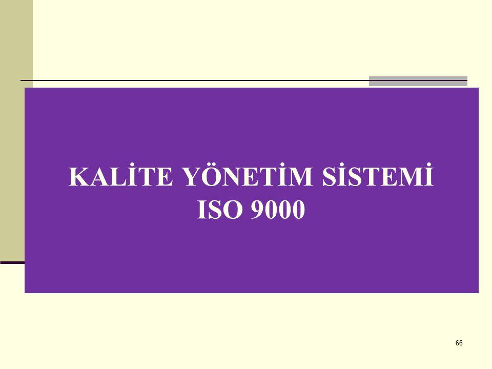 KALİTE YÖNETİM SİSTEMİ ISO 9000