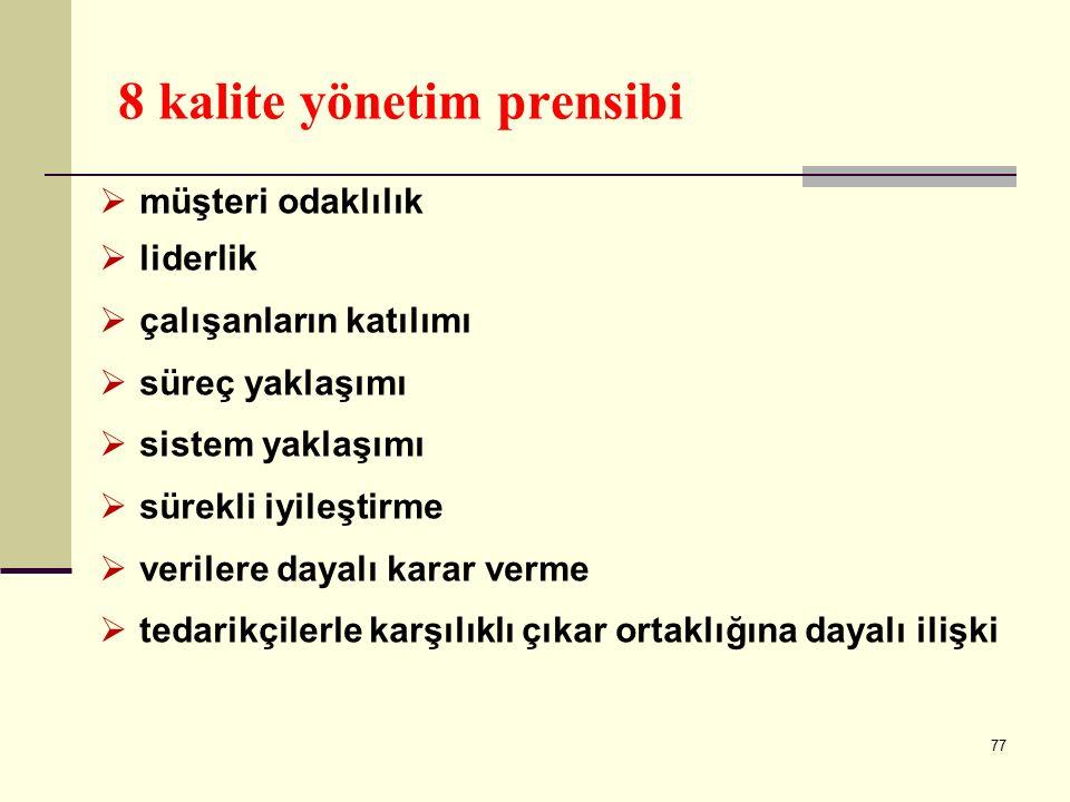 8 kalite yönetim prensibi