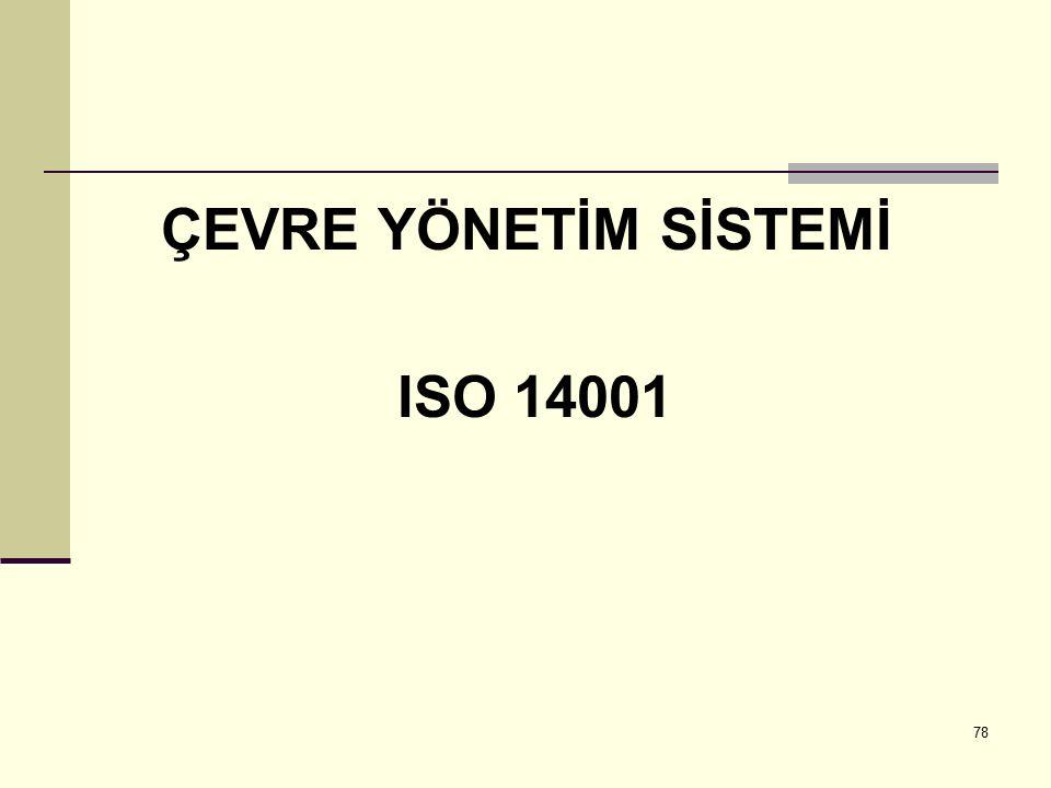 ÇEVRE YÖNETİM SİSTEMİ ISO 14001
