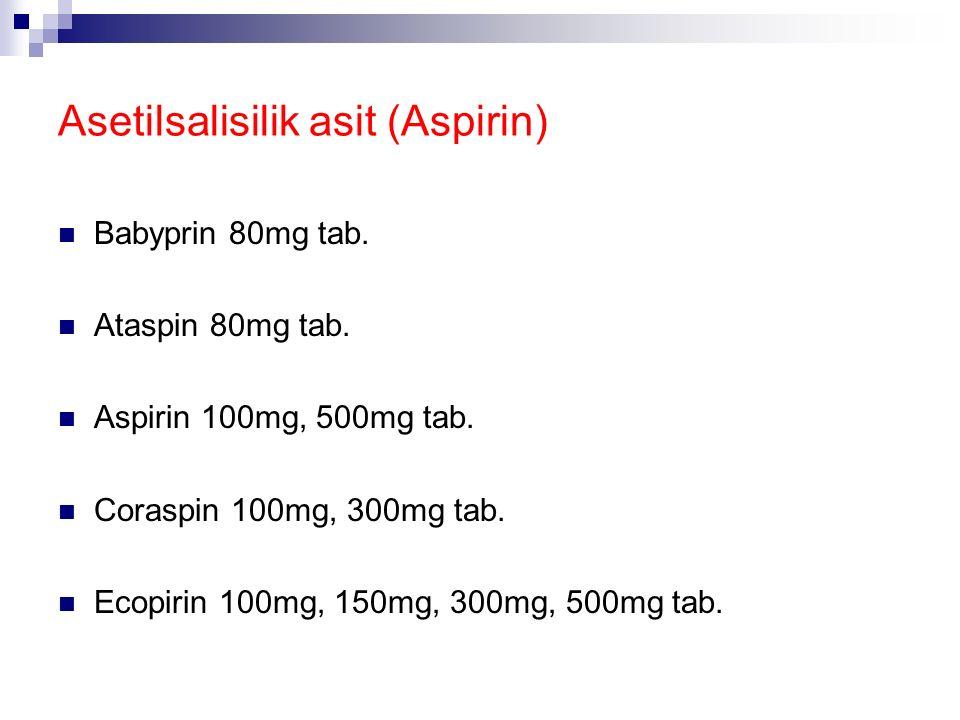Asetilsalisilik asit (Aspirin)