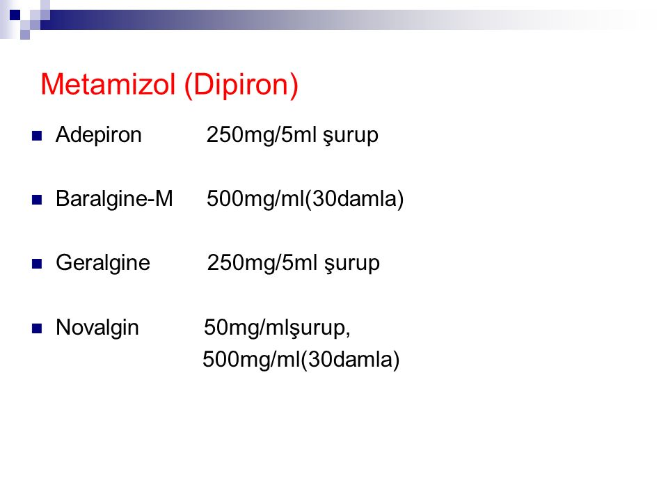 Metamizol (Dipiron) Adepiron 250mg/5ml şurup