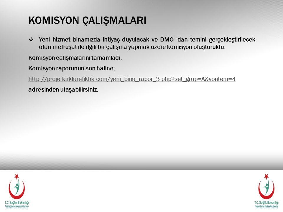 Komisyon çalişmalari