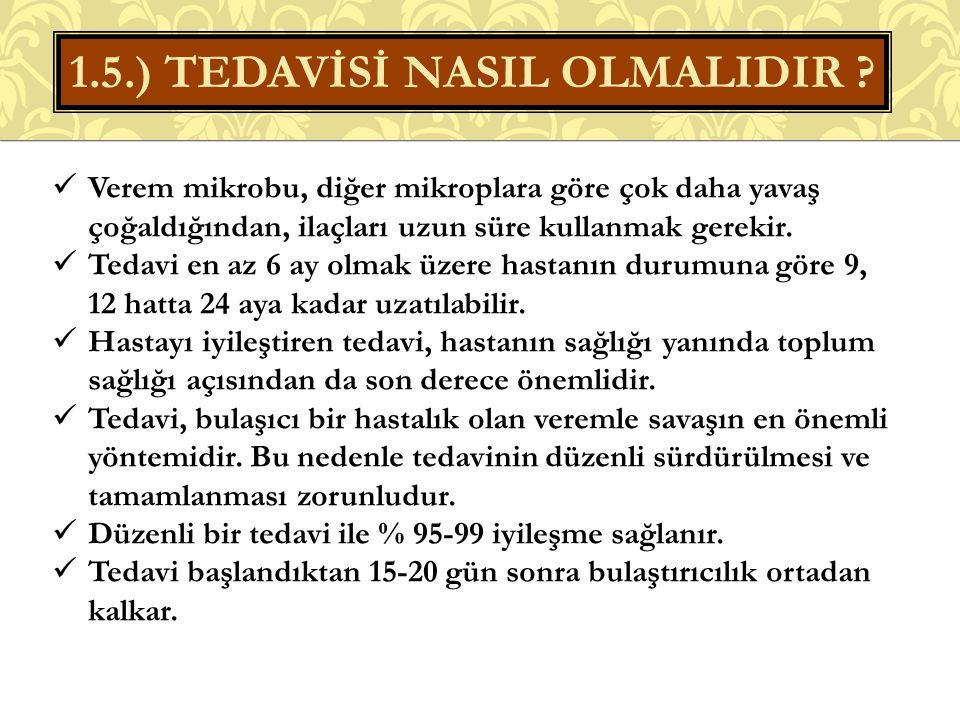 1.5.) TEDAVİSİ NASIL OLMALIDIR