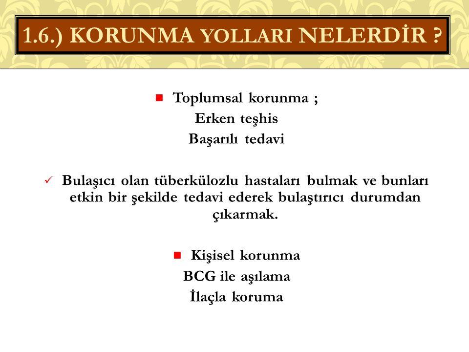 1.6.) KORUNMA YOLLARI NELERDİR