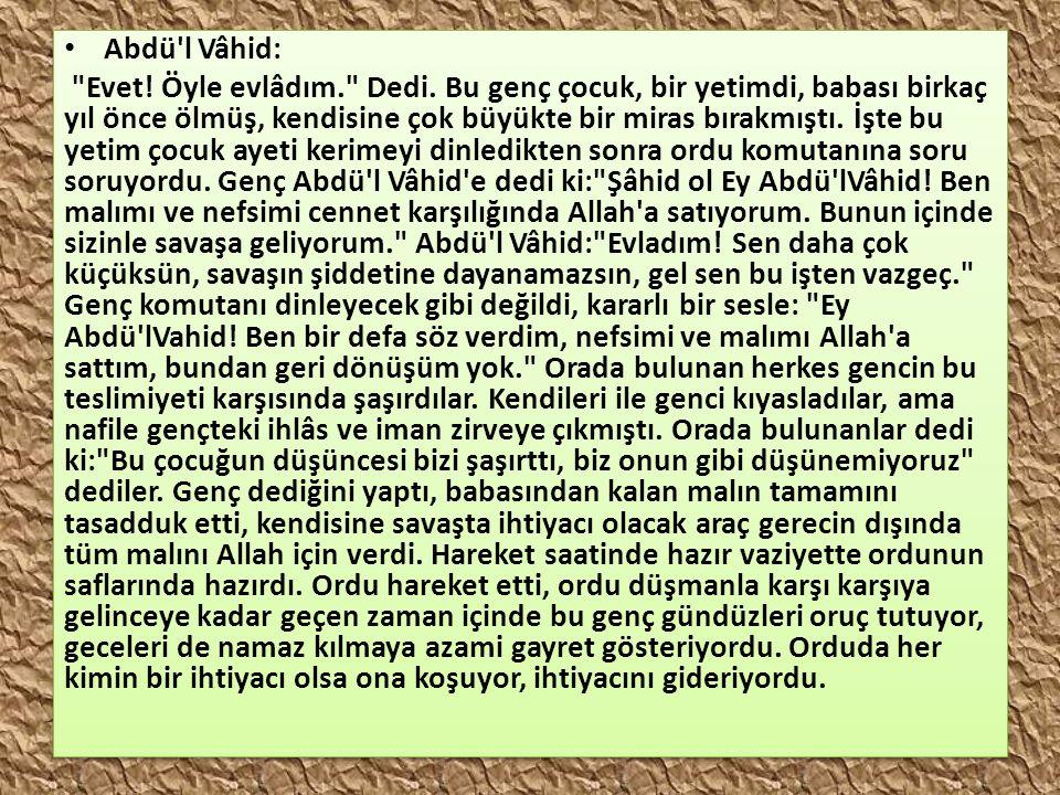 Abdü l Vâhid: