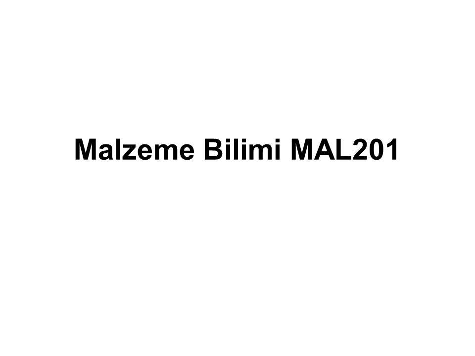Malzeme Bilimi MAL201