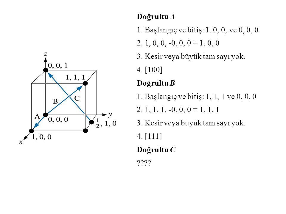 Doğrultu A 1. Başlangıç ve bitiş: 1, 0, 0, ve 0, 0, 0. 2. 1, 0, 0, -0, 0, 0 = 1, 0, 0. 3. Kesir veya büyük tam sayı yok.