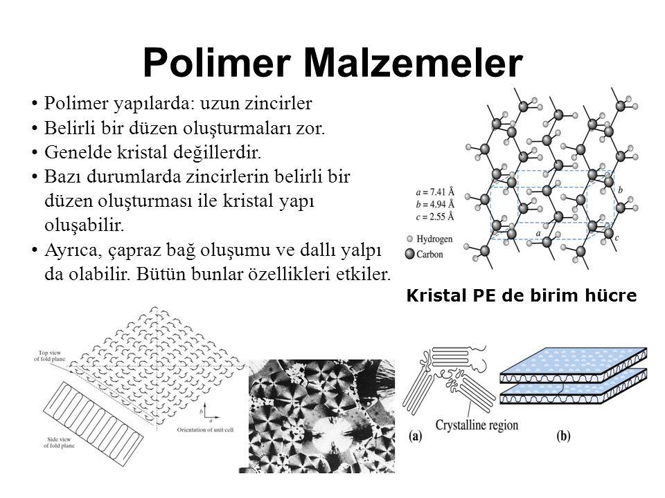 Polimer Malzemeler Polimer yapılarda: uzun zincirler
