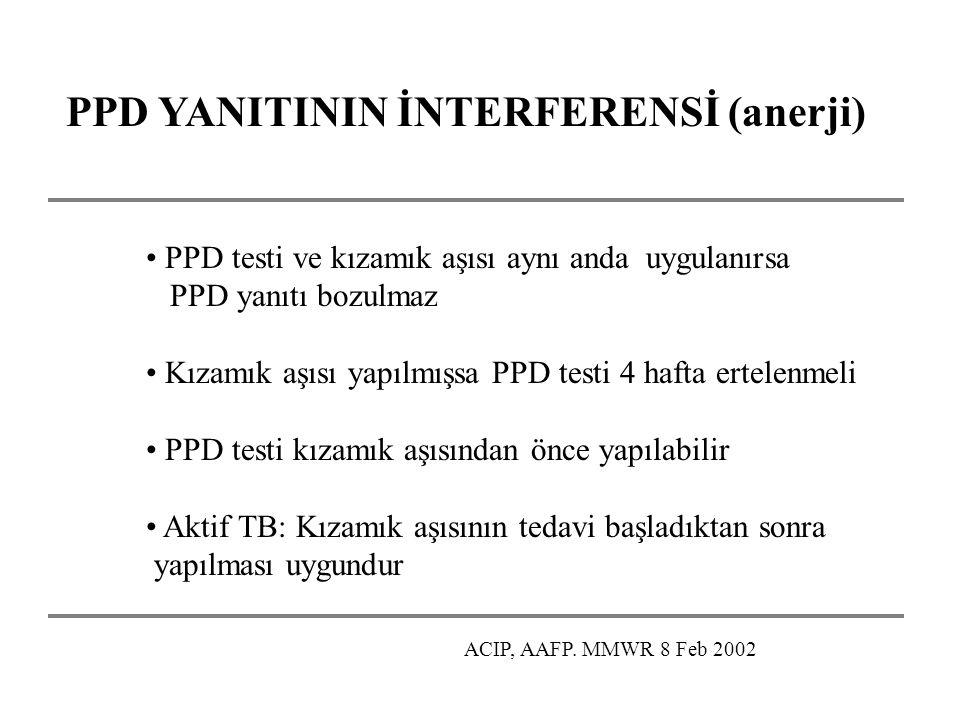 PPD YANITININ İNTERFERENSİ (anerji)