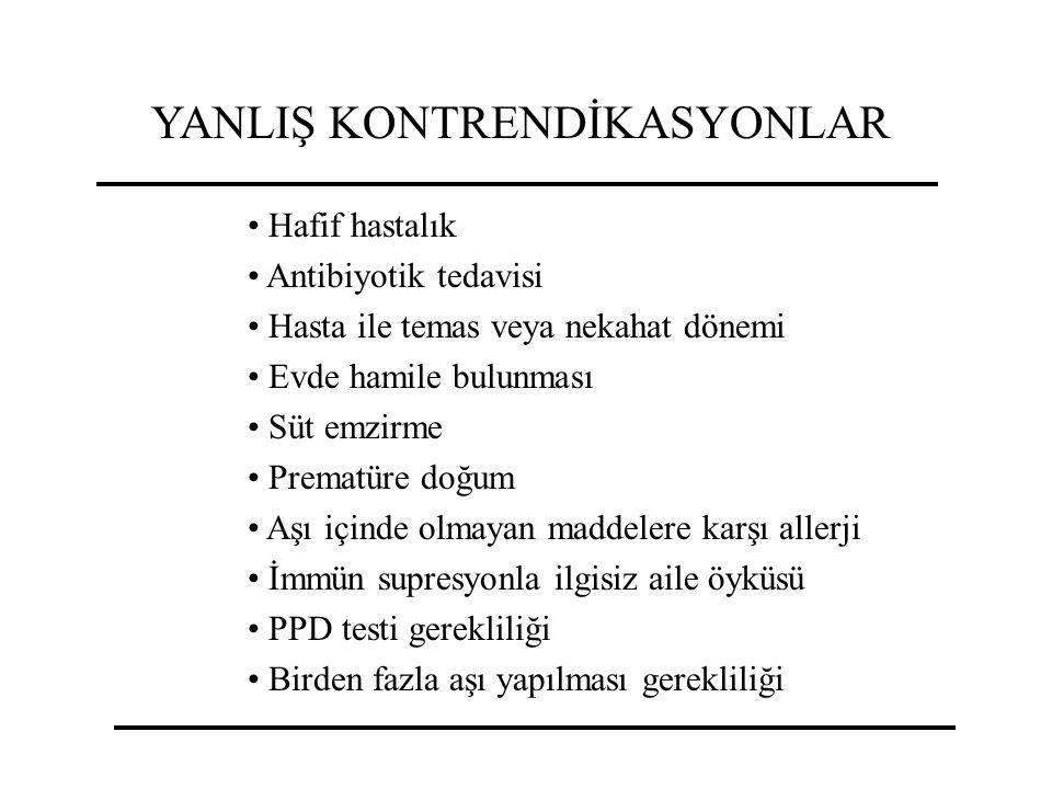 YANLIŞ KONTRENDİKASYONLAR