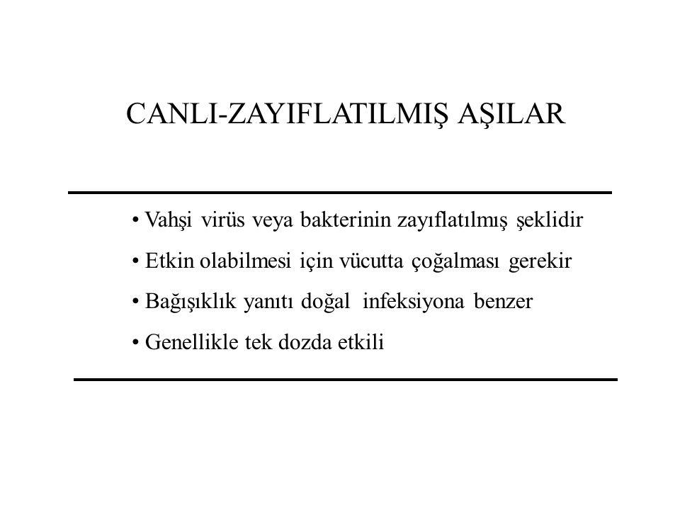 CANLI-ZAYIFLATILMIŞ AŞILAR